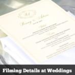 Filming Details at Weddings